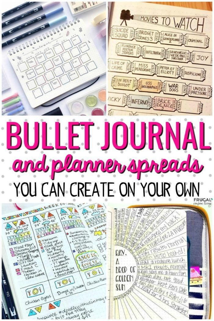 diy crafts   creative bullet journal ideas and planner spreads to organize your life  inspiri