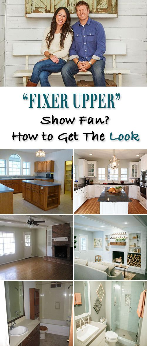 """""""Fixer Upper"""" Show Fan? • How You Can Get that Look! Great before and afte..."""