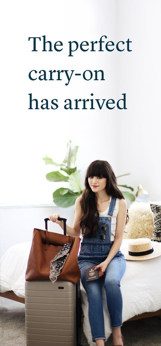 """""""We're in love with Away's simple and chic bags that make travel a breeze...."""