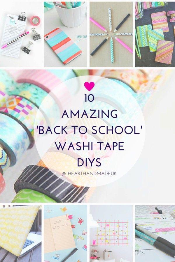 Diy Crafts 10 Amazing Back To School Washi Tape Diy Ideas