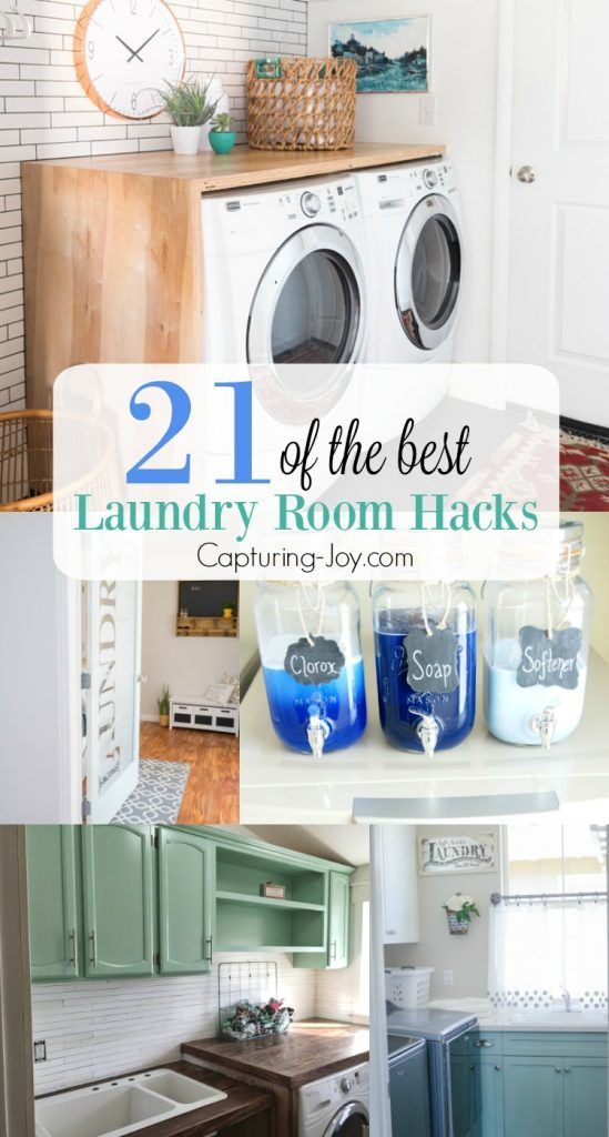 21 of the Best Laundry Room Hacks. Great tips and ideas for storage, organizatio...