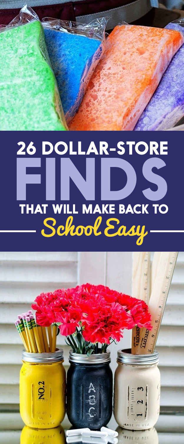 26 Dollar-Store Finds That Will Make Back To School Easy - great for home school...