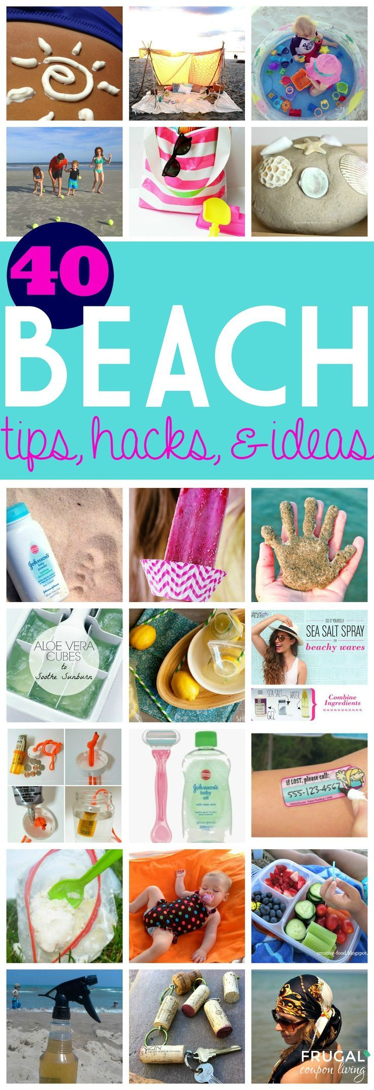 40 Beach Tips and Tricks - Hacks and Ideas for Your Trip to the Sand. Round-Up o...