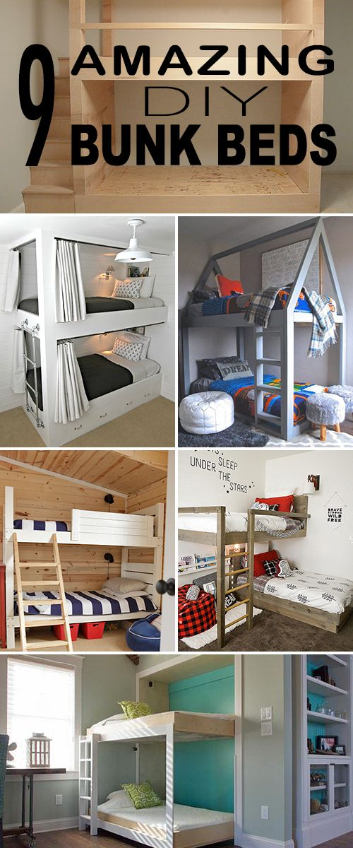 9 Amazing DIY Bunk Beds! • Great ideas, projects and tutorials for you to try!...