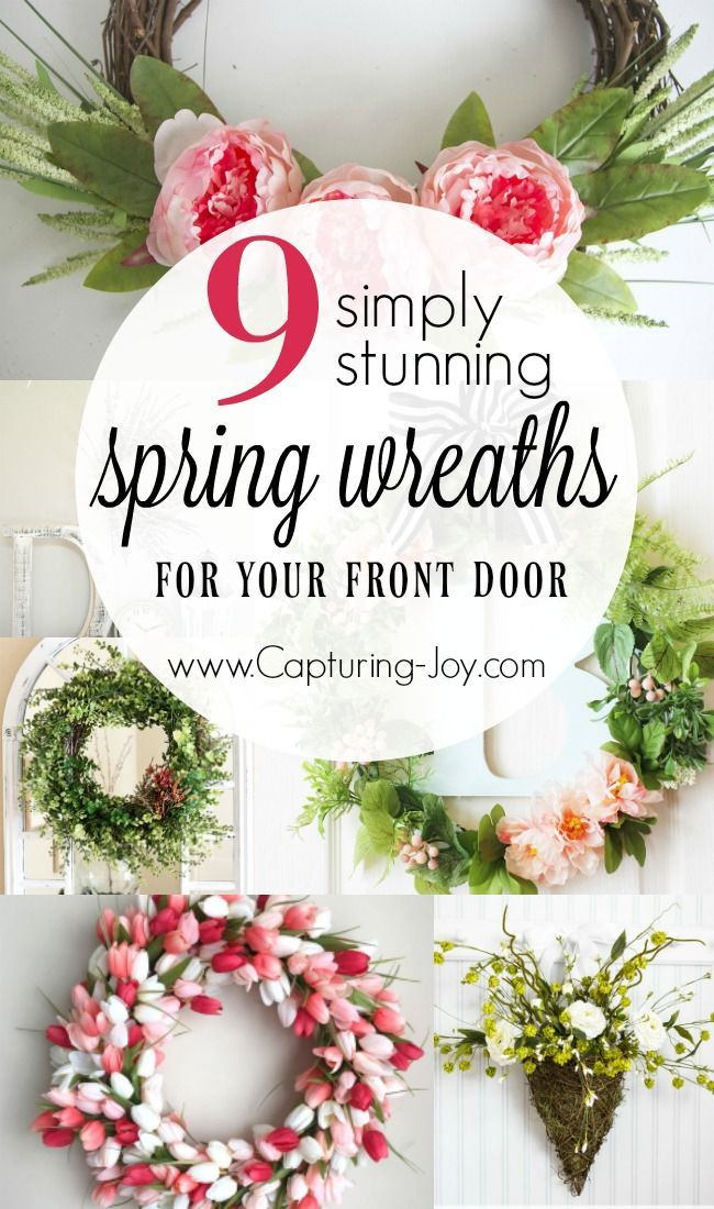 9 Simply stunning spring wreaths for the first day of spring! Spruce up your fro...