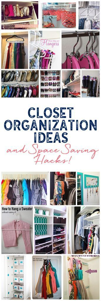 A ton of awesome closet organization ideas to make all of your closets functiona...
