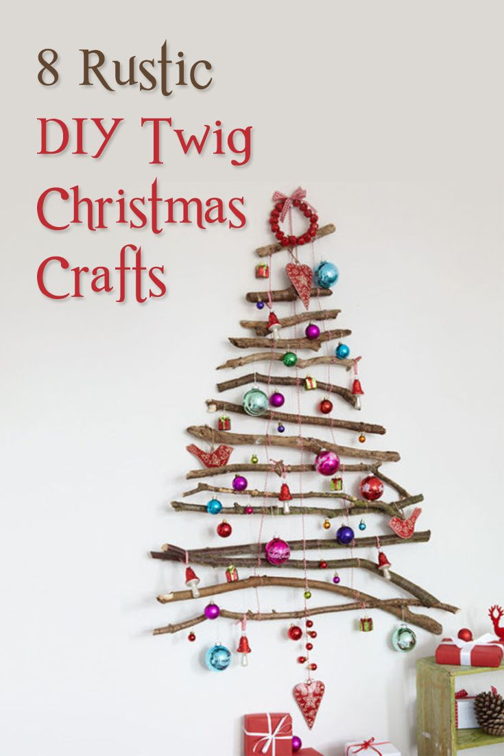 Add a touch of rustic chic to your home this Christmas by making one of these tw...