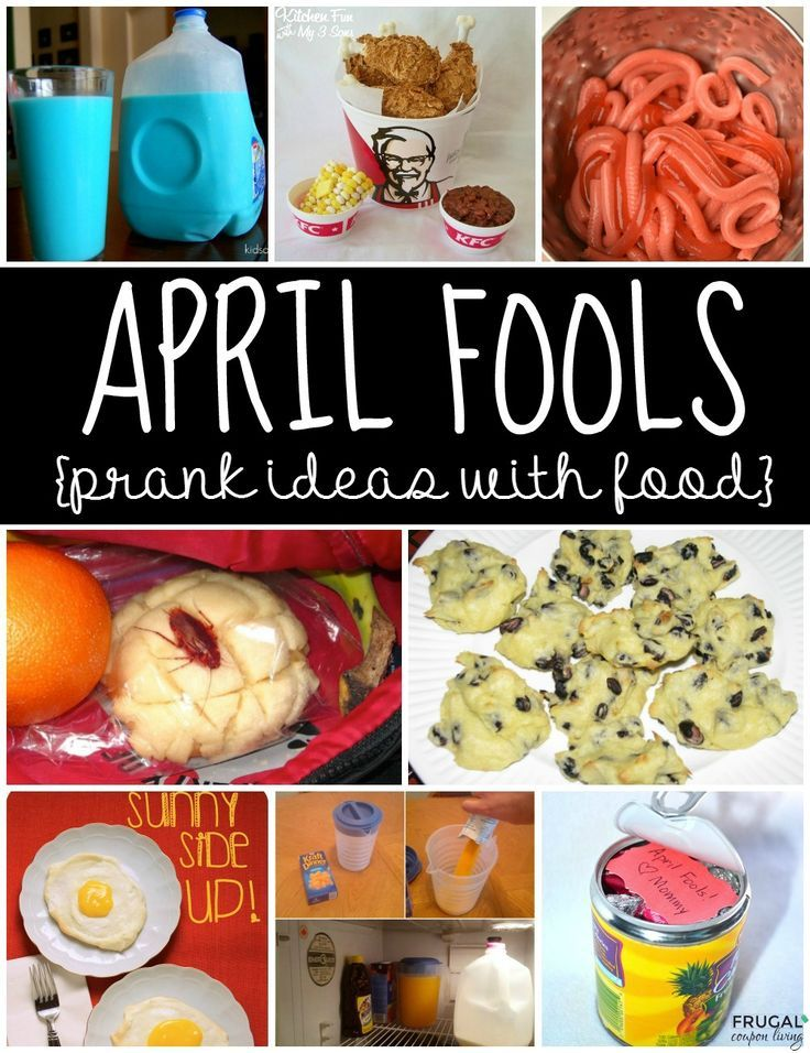 April Fools Food., Innocent and Playful April Fools Prank Ideas - Pranks for th...