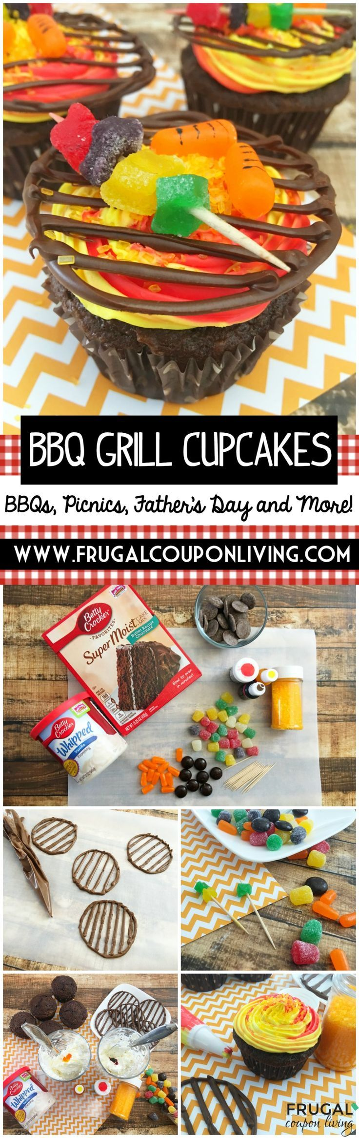 BBQ Grill Cupcakes - Looking for a fun dessert this Father's Day. We love these ...