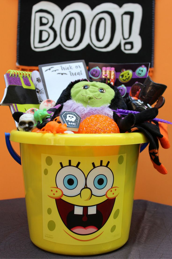 BOO! Don't get caught without your SpongeBob Halloween Gift Basket