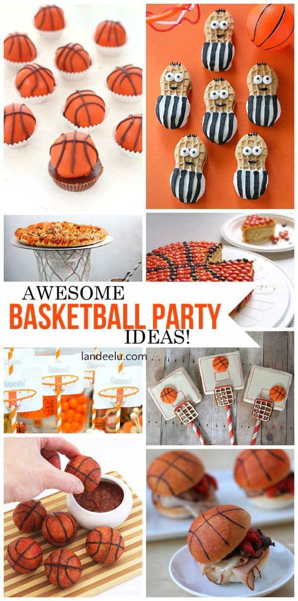 Basketball party ideas that are sure to be a hit! Food, DIY decorations, printab...