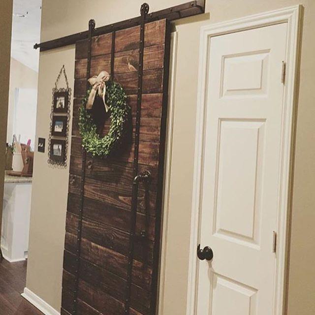 Beautiful sliding barn door.