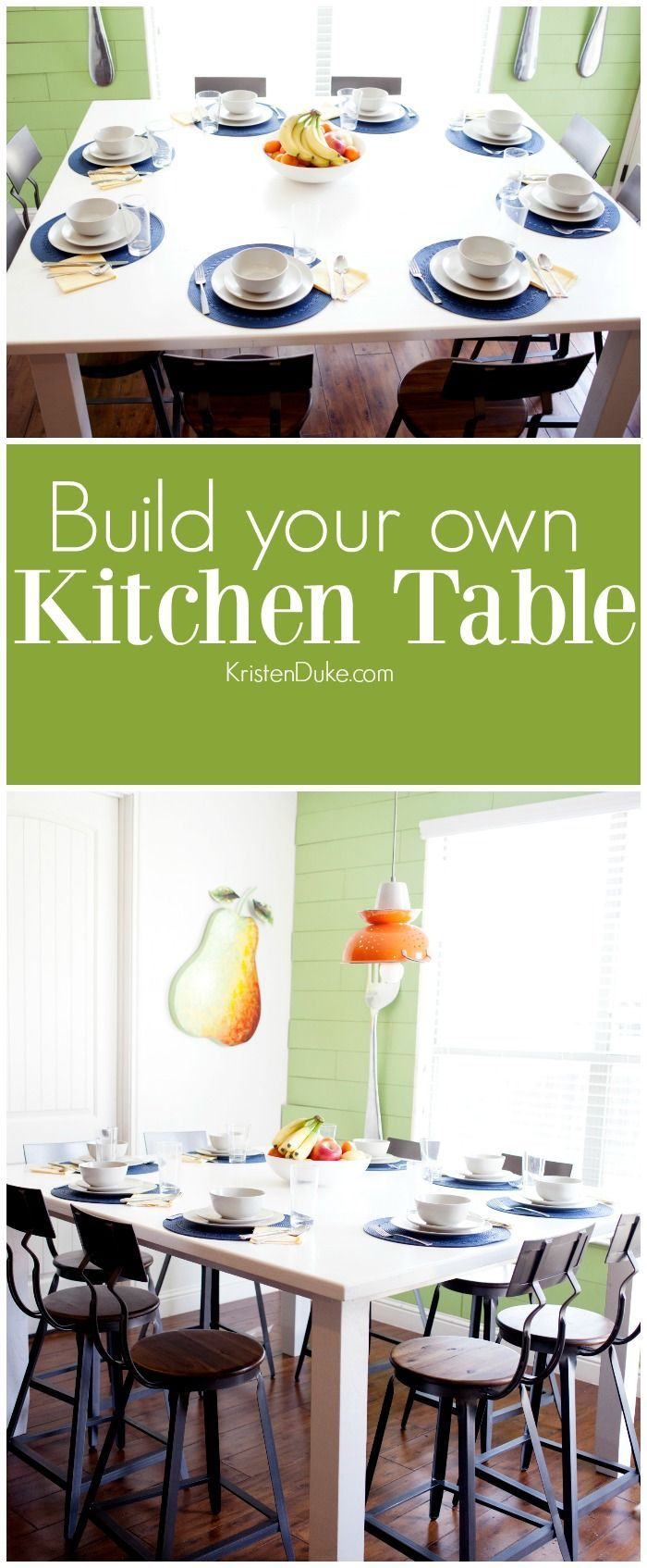 Build your own kitchen table | DIY table plans | DIY | Kitchen | #sponsored | ww...