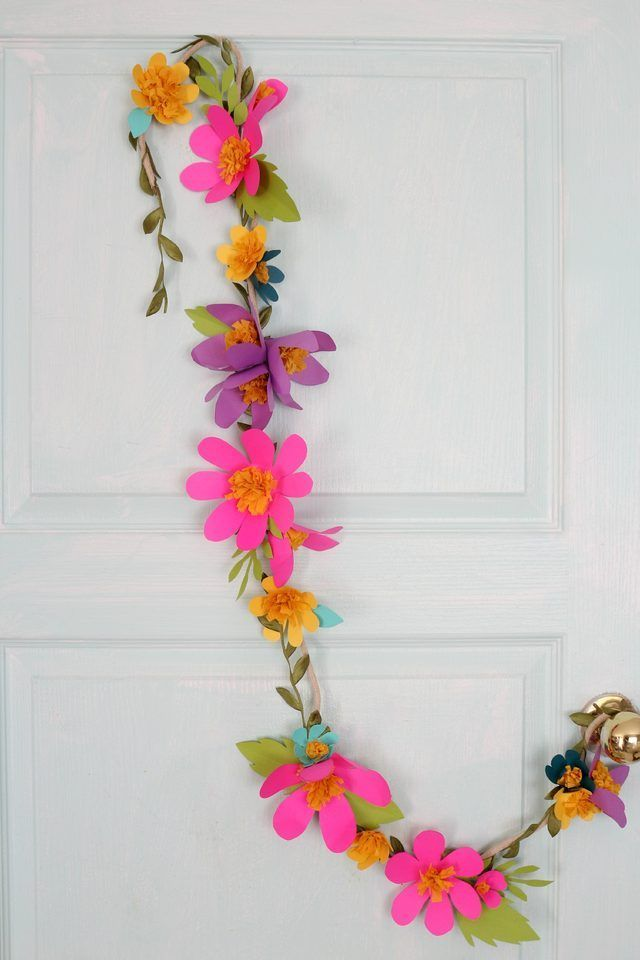 Diy Crafts Colorful Paper Flower Garland Can Be Hung