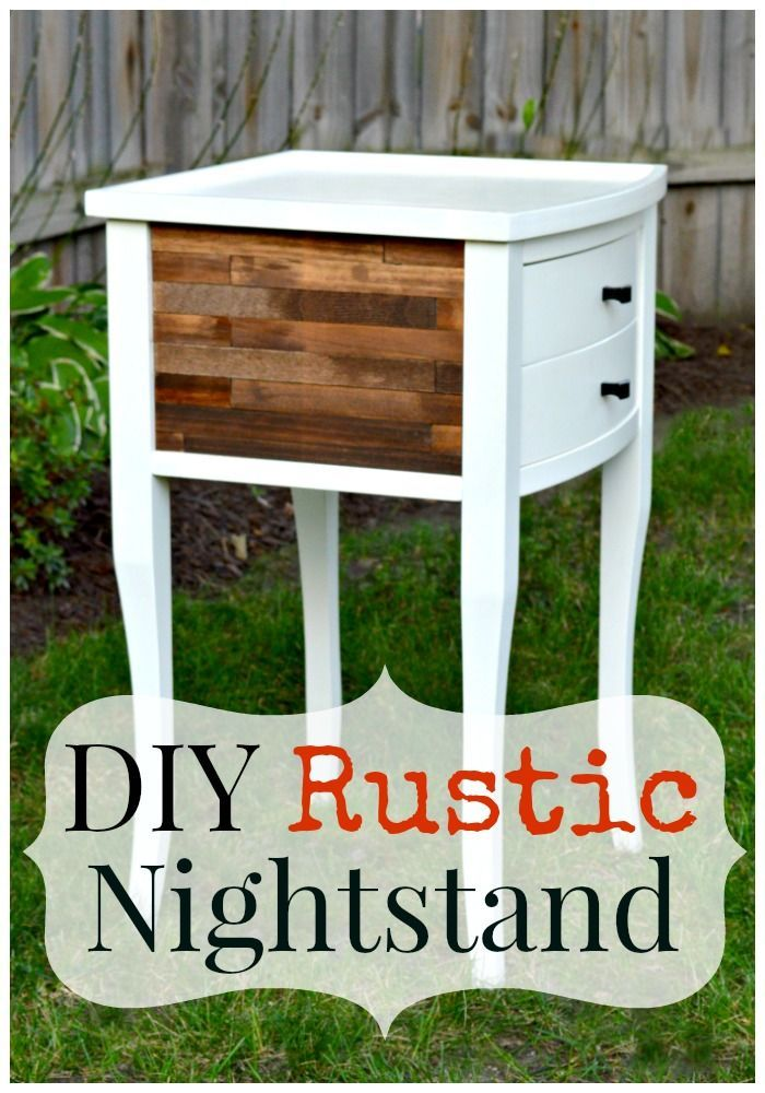 Creating a rustic nightstand with paint sticks and stain.