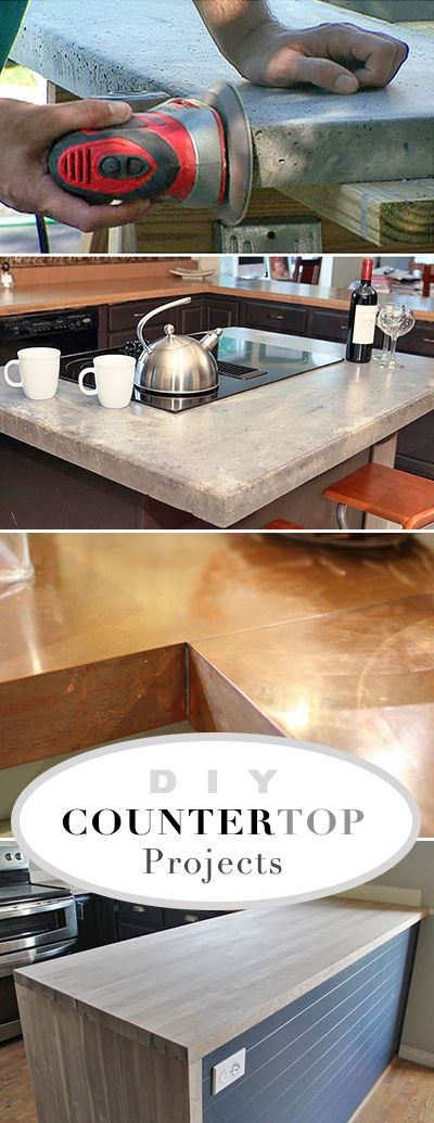 DIY Countertop Projects • A round-up of the best do it yourself countertop pro...