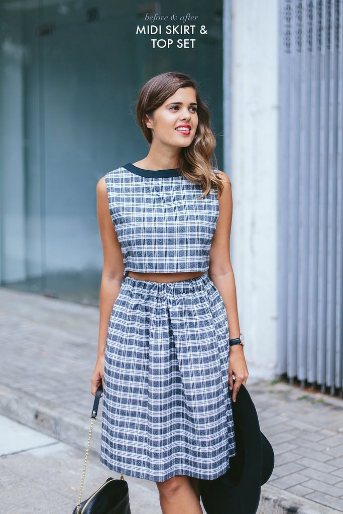 DIY Dress into Skirt & Top Set - FREE Sewing Tutorial