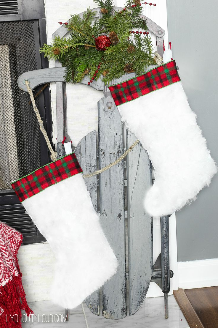 Diy Crafts Diy Faux Fur Christmas Stockings Made From Dollar Tree