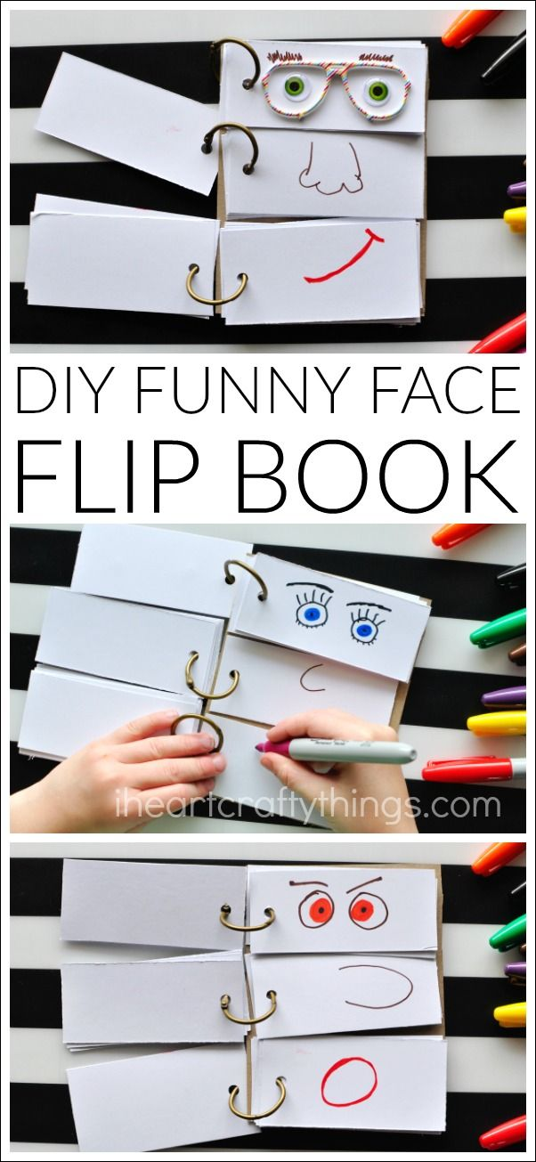 Diy Crafts Diy Funny Face Flip Book Diyall Net Home Of Diy