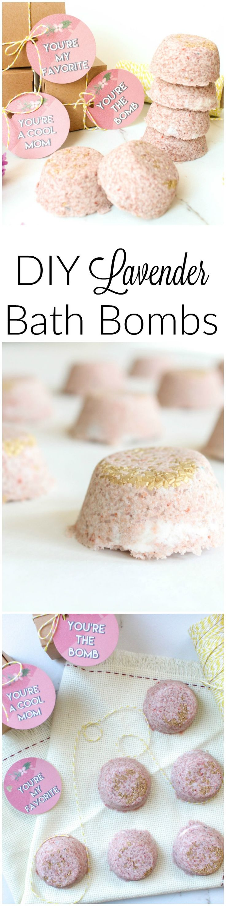 DIY Lavender Bath Bomb! If you are looking for the perfect mother's day gift...