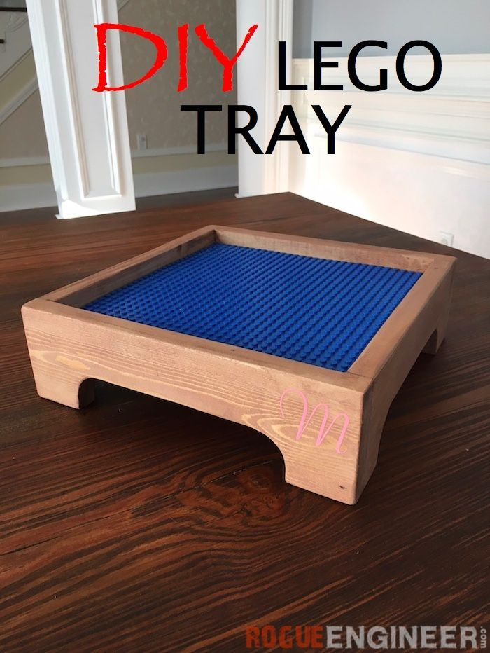 DIY Lego Tray DIY Lego Tray - Free & Easy Plans | rogueengineer.com #LegoTray #B...