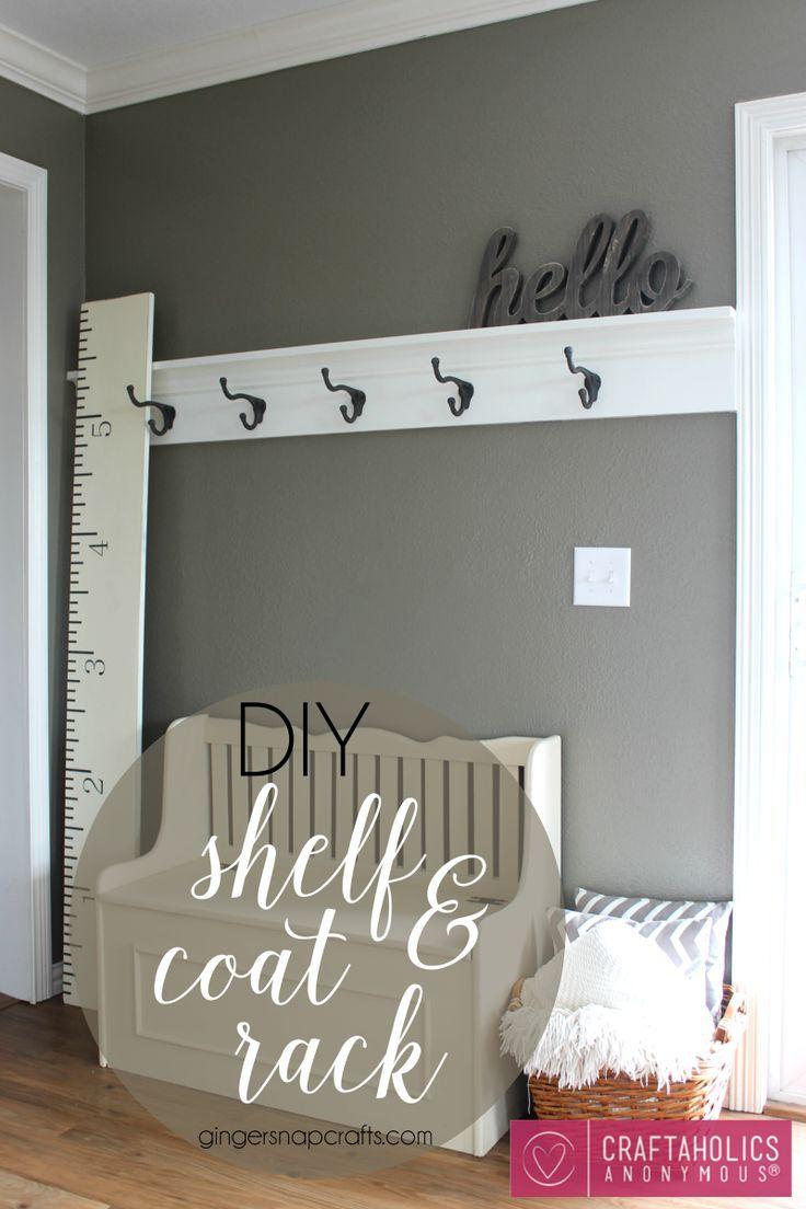 DIY Shelf & Coat Rack   Craftaholics Anonymous®️️