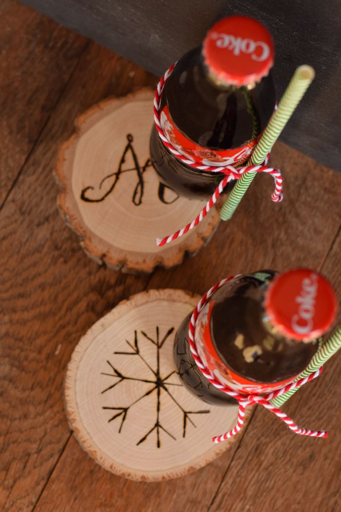 Diy Crafts Diy Wood Slice Coasters Gift Idea For Christmas Or