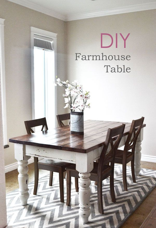 DIY farmhouse kitchen table I Heart Nap Time | I Heart Nap Time - Easy recipes, ...