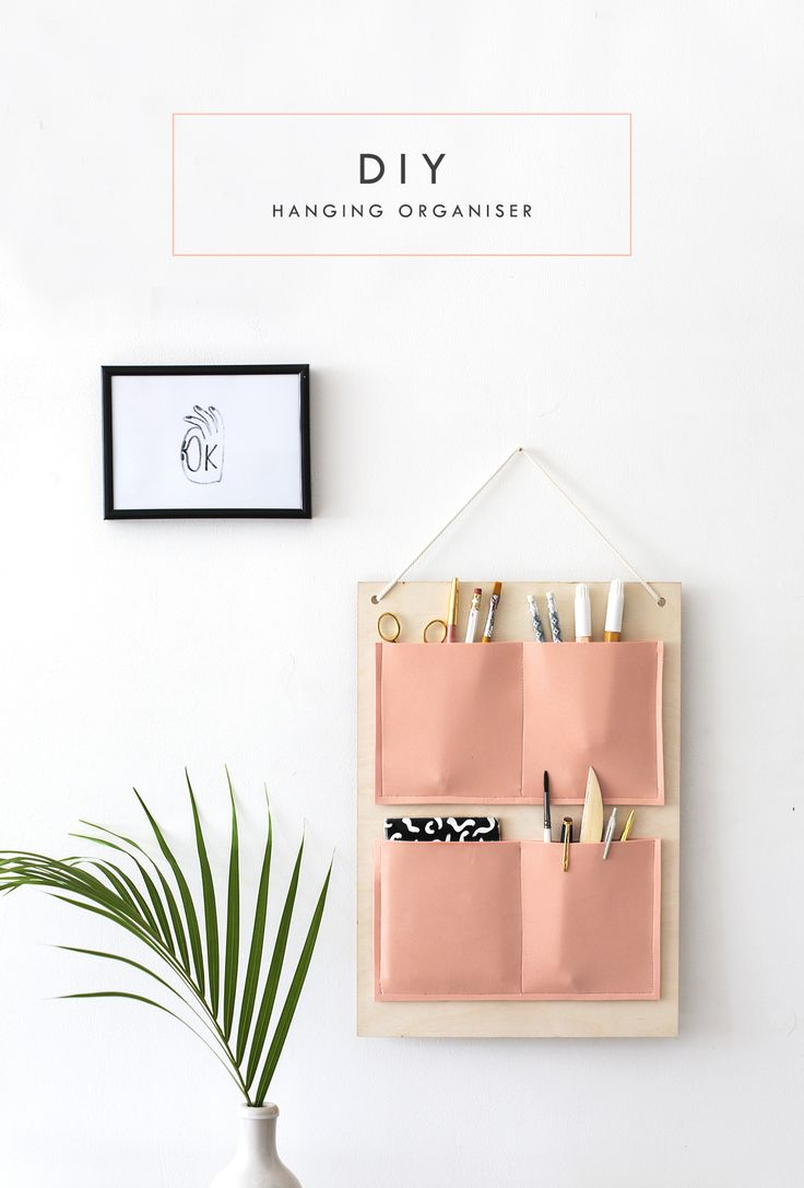 DIY wall hanging organiser tutorial for your home office or anywhere in the hous...