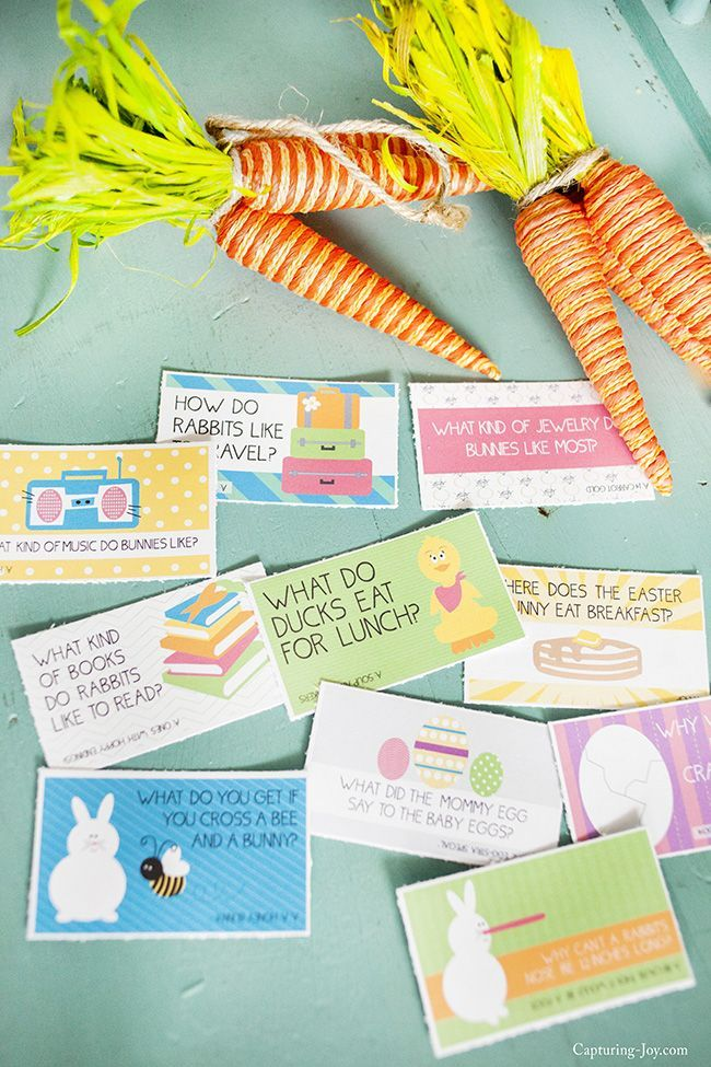 Easter Lunch Jokes free printables for kids and adults to enjoy.