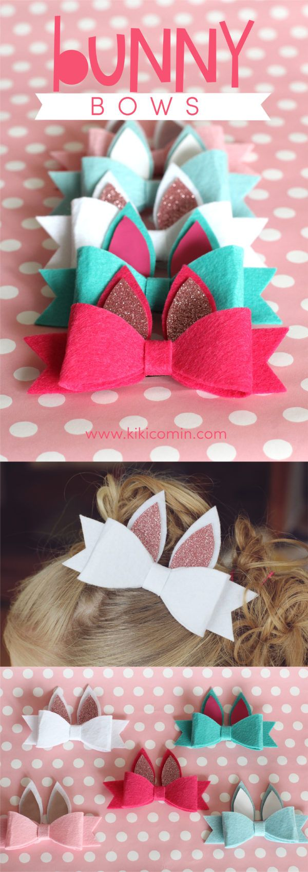 Easter is right around the corner and with these Bunny Bows made with Expression...