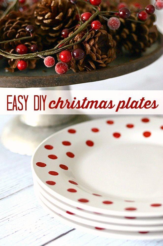 Easy DIY Christmas Plates   simplykierste.com