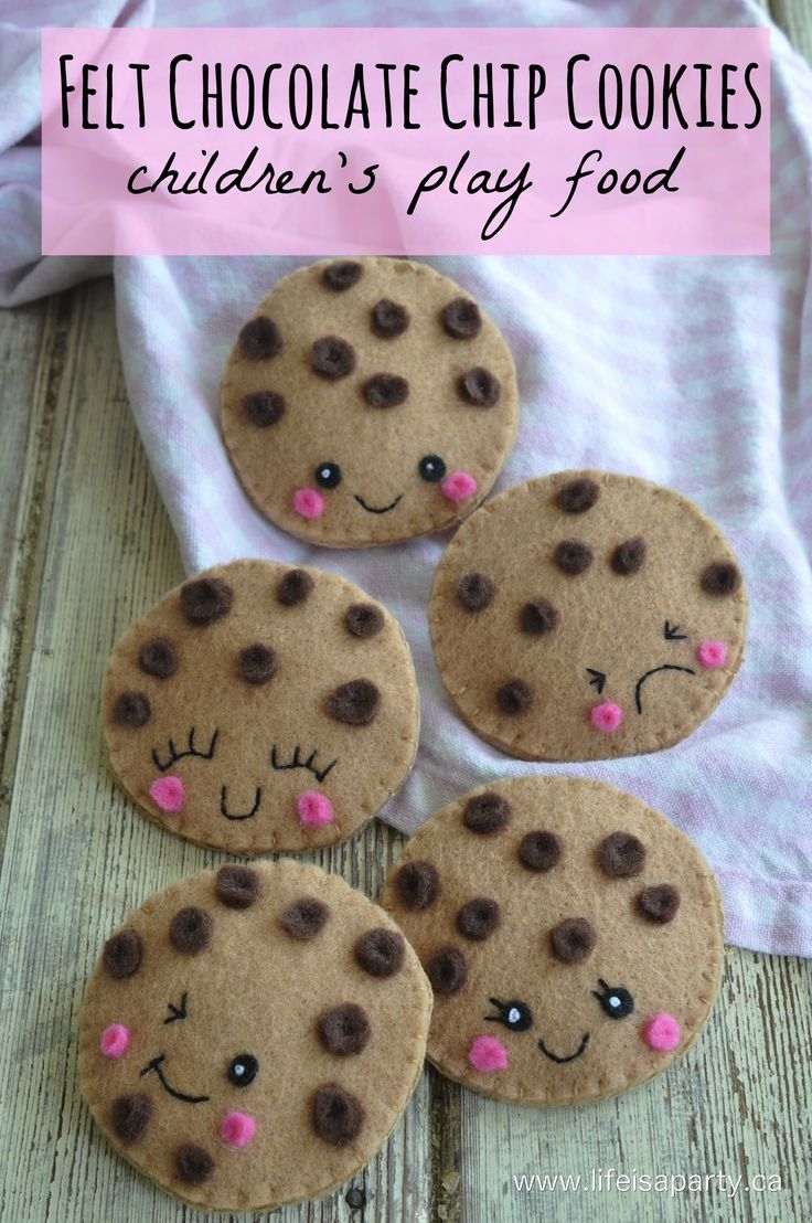 Diy Crafts Felt Chocolate Chip Cookies Easy Sew And The Perfect