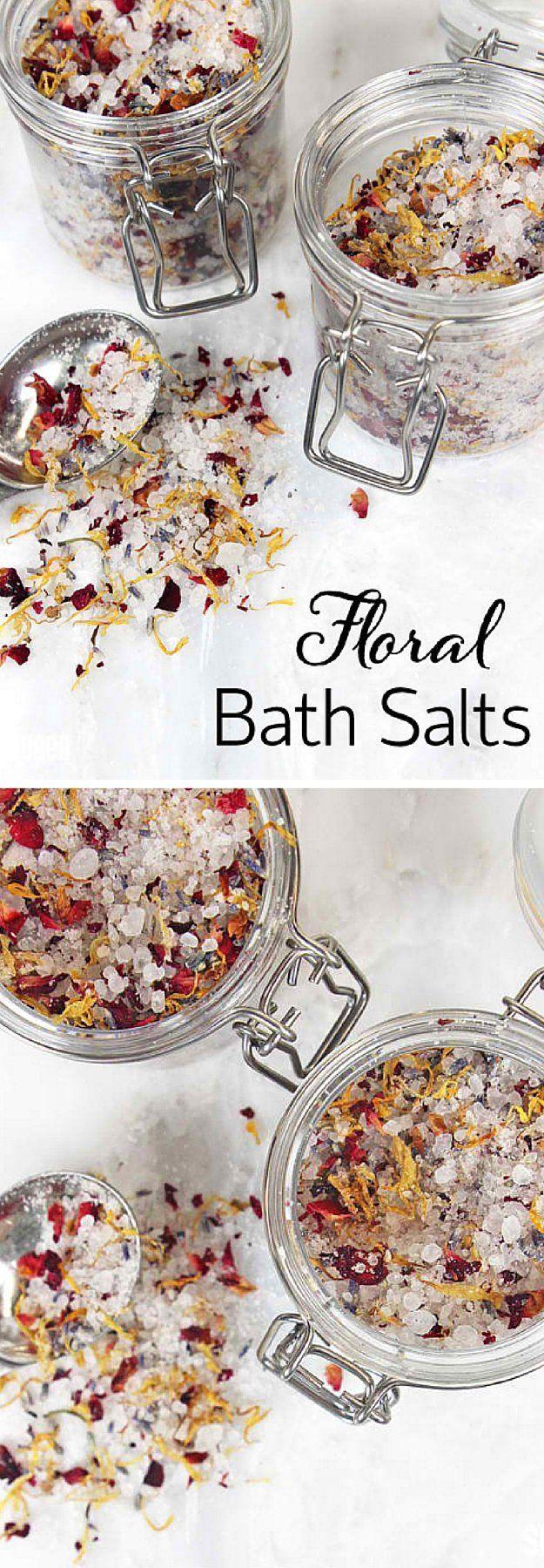Floral Bath Salts | 17 DIY Bath Salts | Learn How To Make The Most Relaxing Bath...