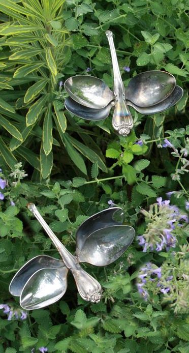Garden Dragonflies Made From Recycled Spoons ❤︎