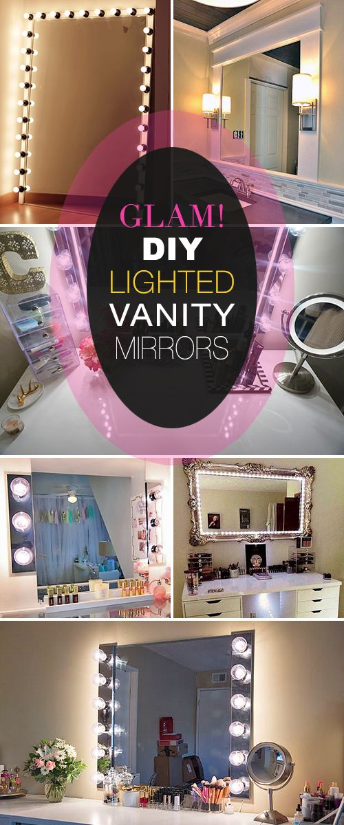 Glam! DIY Lighted Vanity Mirrors! • We decided to go glam, so we rounded up so...