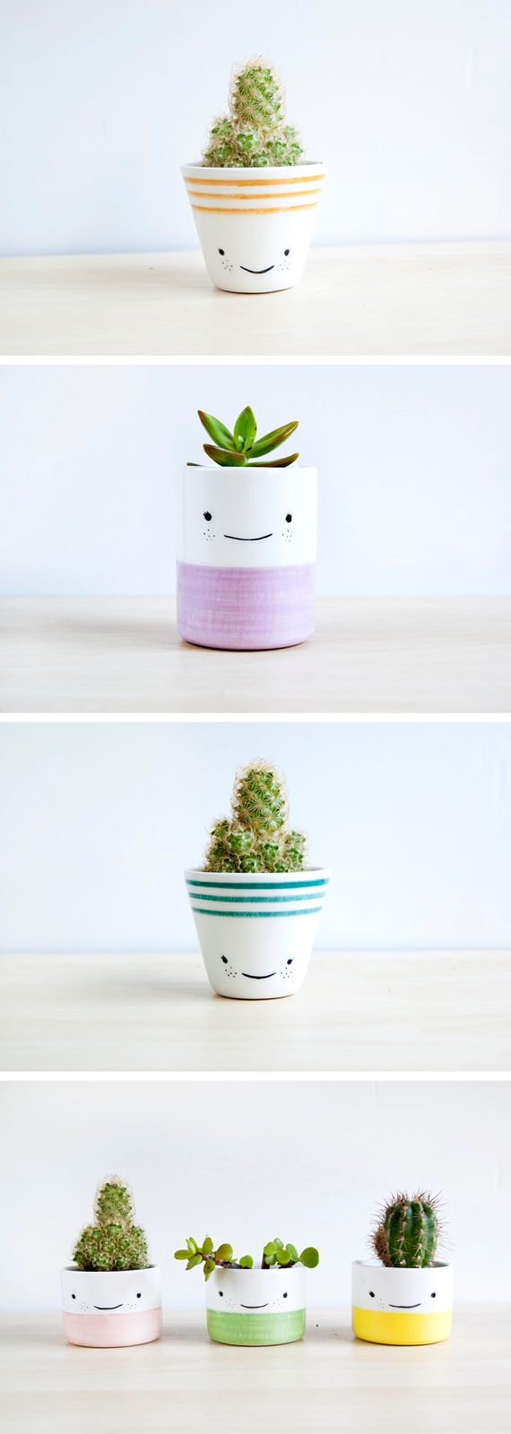 Happy planters are her thing. Explore the shop of Spain-based ceramicist, Noe Ma...
