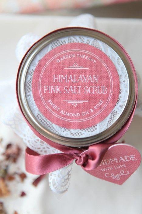 Healing Himalayan Pink Salt Scrub #plantbasedbeauty #naturalbeauty #himalayanpin...