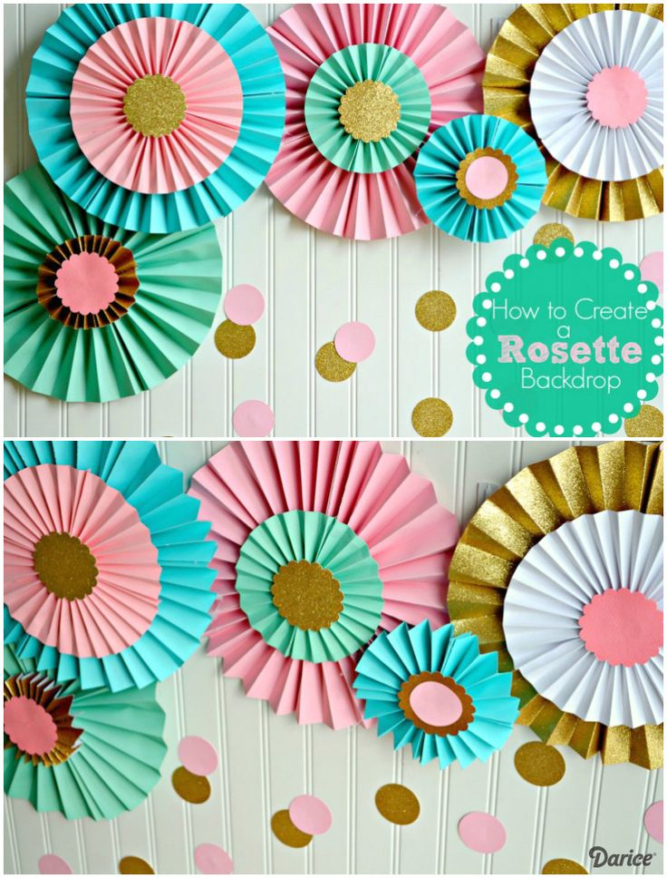 Diy Crafts How To Make Paper Rosettes For A Party Backdrop