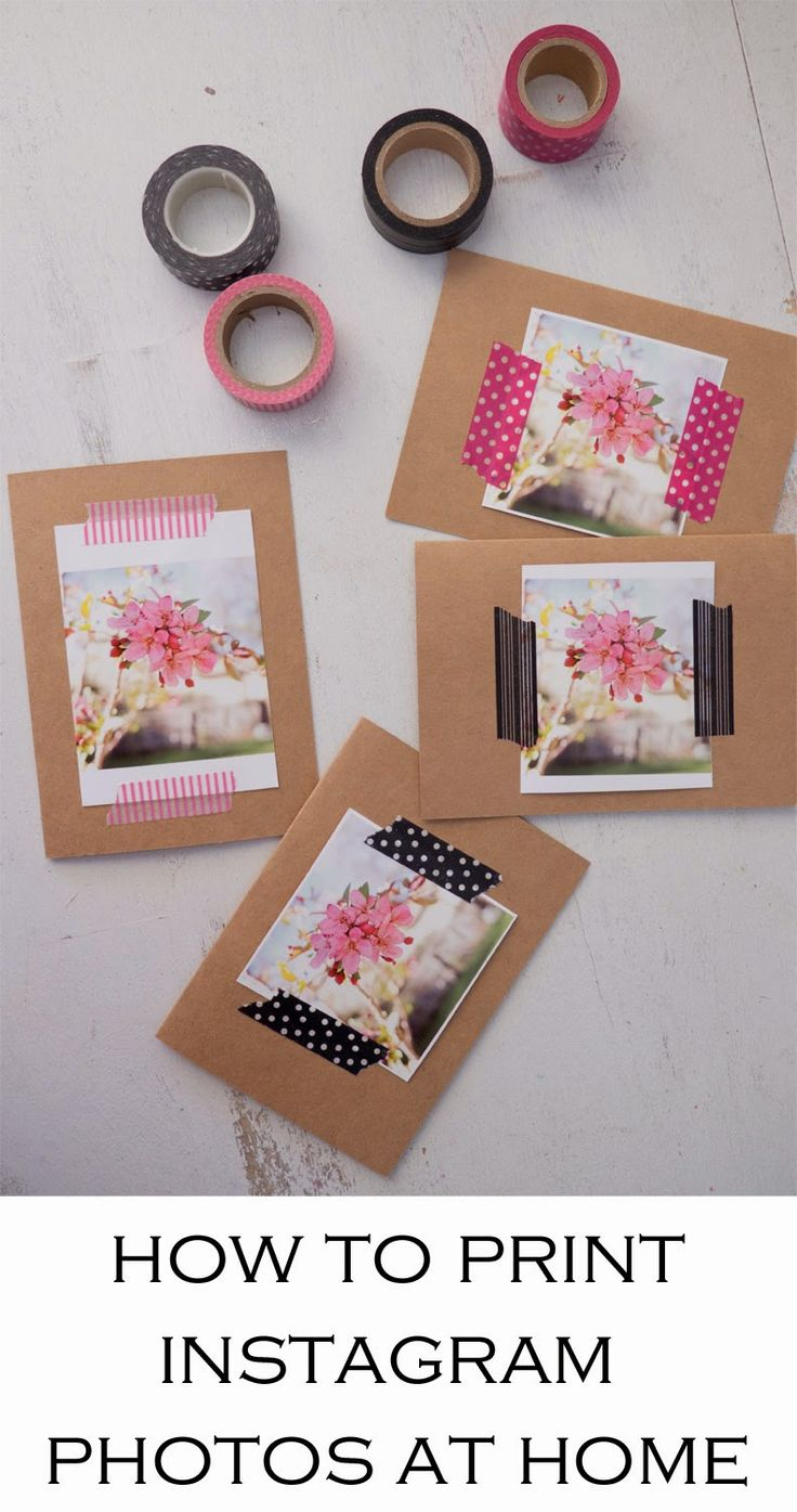 Diy Crafts How To Print Instagram Photos And Instagram Look
