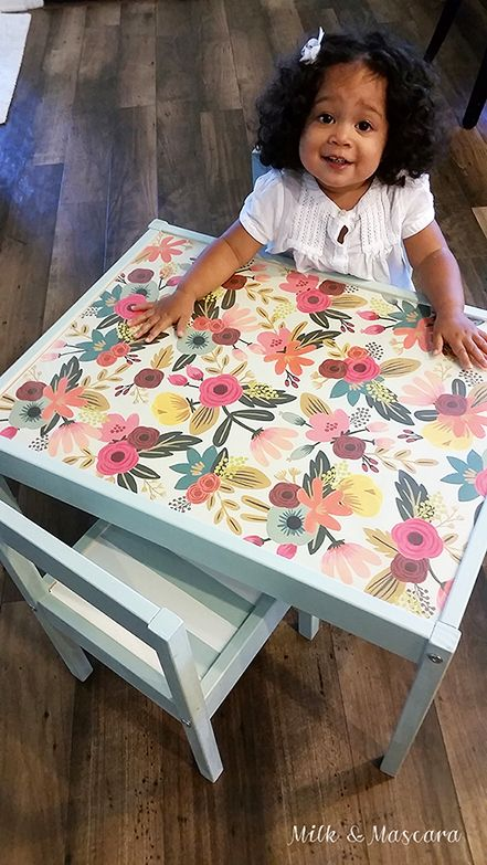 Ikea table hack that's perfect for the playroom!
