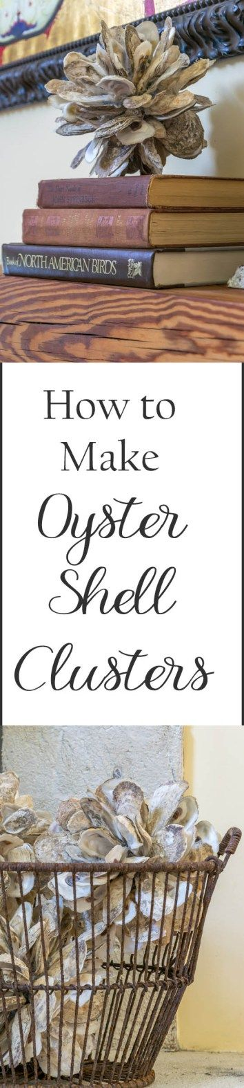 Inexpensive and easy to make DIY idea! Illustrated instructions to make an Oyste...