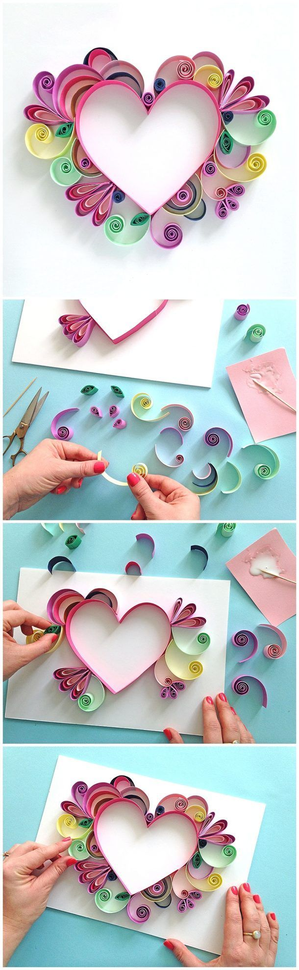 Diy Crafts Learn How To Quill A Darling Heart Shaped Handmade Work