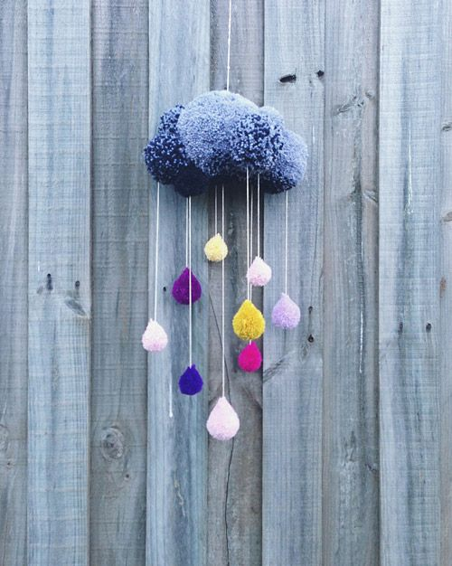 Look for the cute or pretty like this pom pom rain cloud decoration, when you ar...