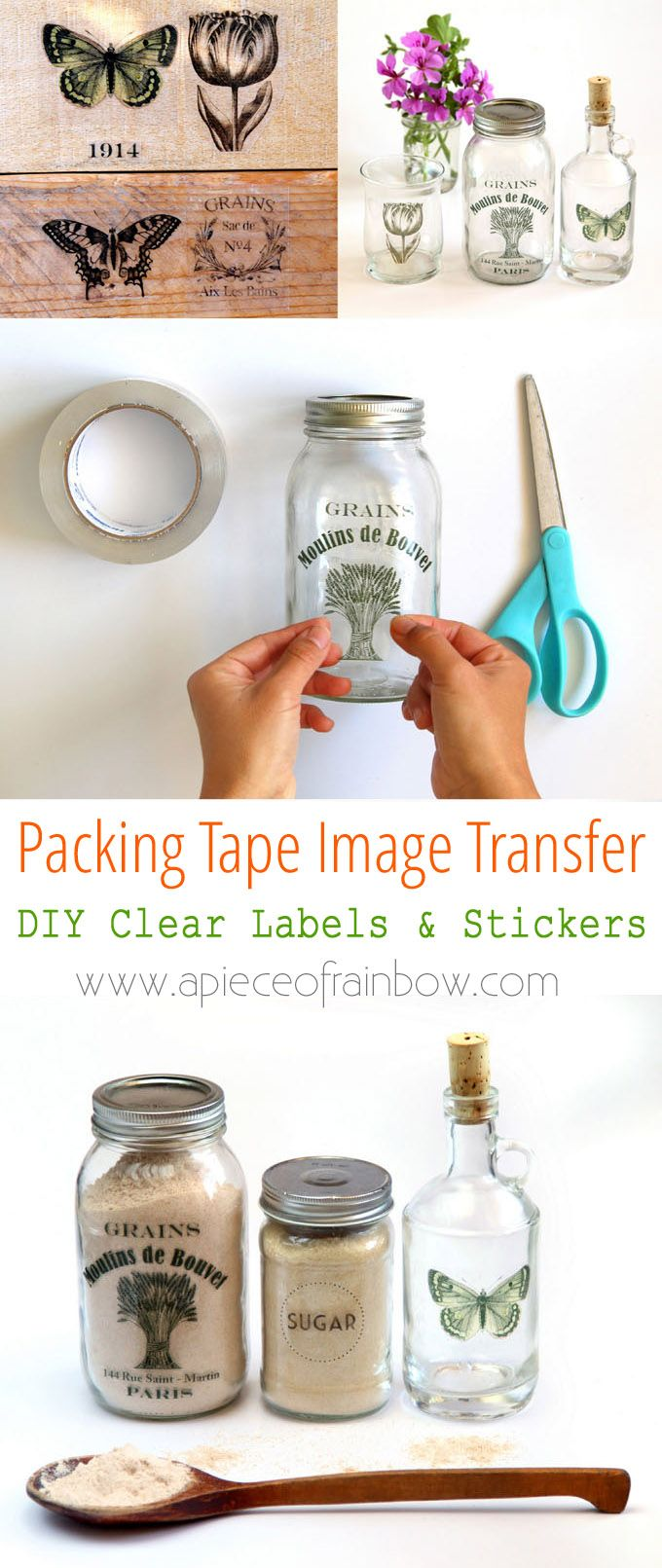 DIY Crafts : Make clear stickers using an easy packing tape