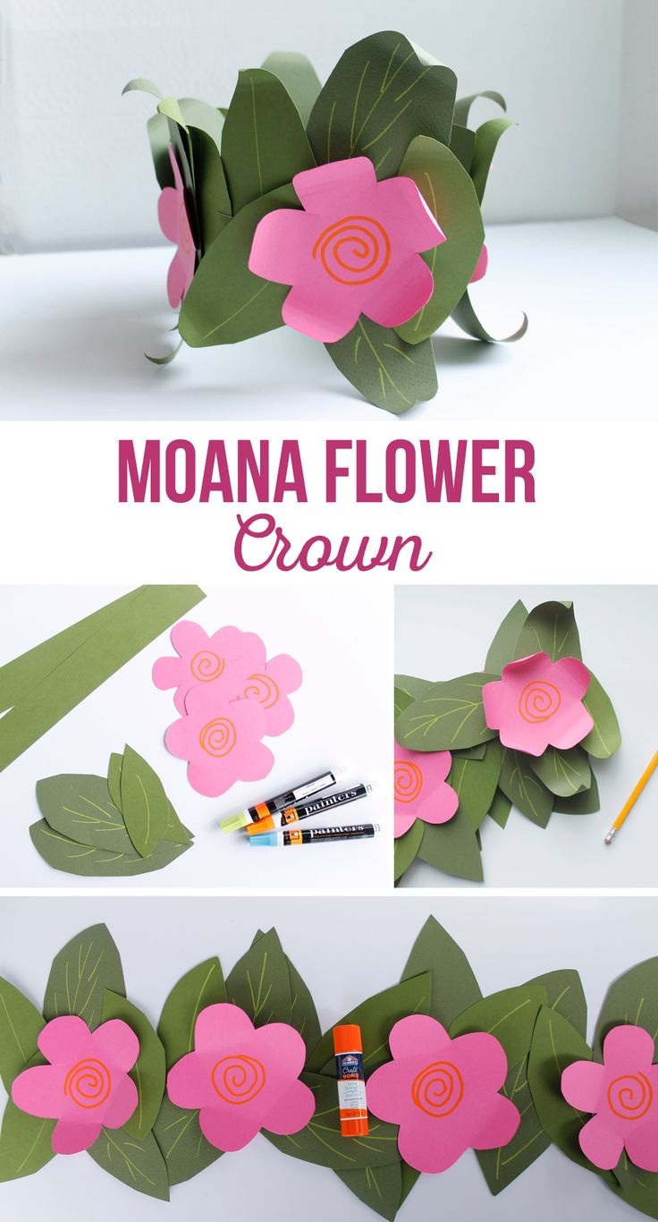 Diy Crafts Moana Paper Flower Crown Diyall Home Of Diy