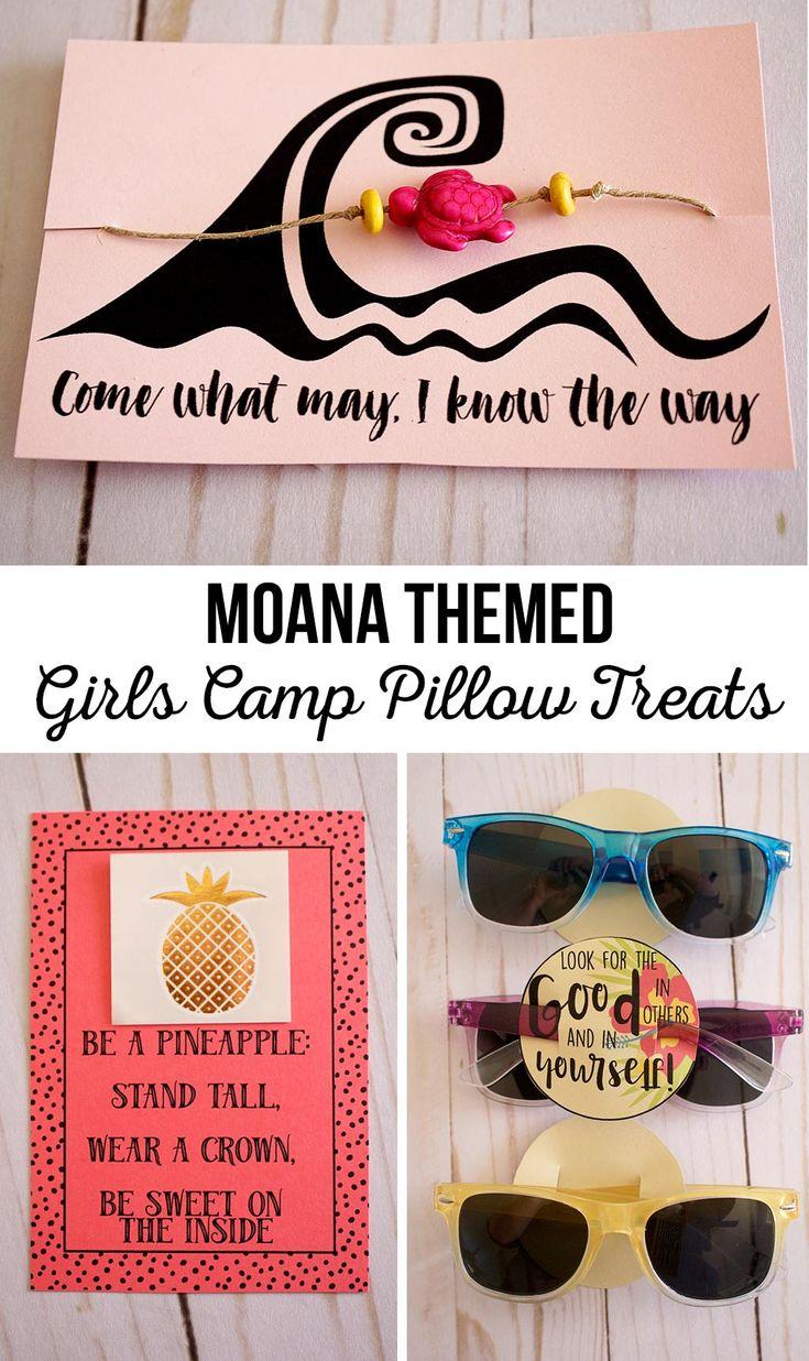 Moana Themed Girls Camp Pillow Treats