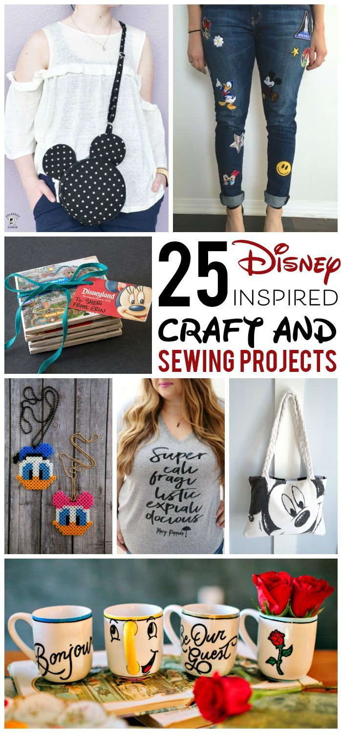 More than 25 Adorable DIY Disney Craft and Sewing Projects - so many fun things ...