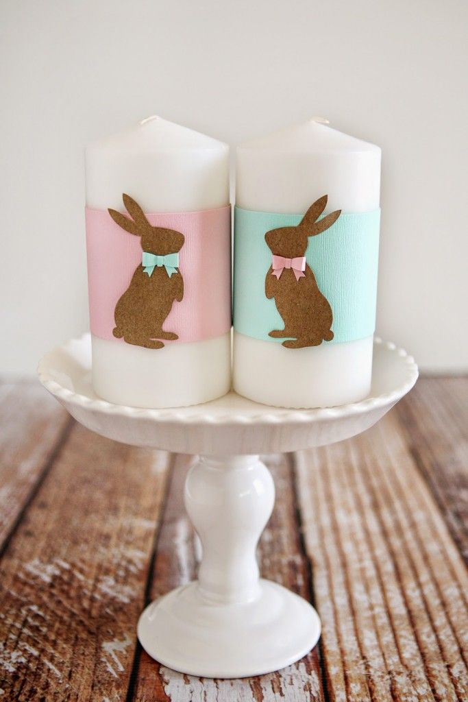 Mr and Mrs Bunny Candles - Eighteen25