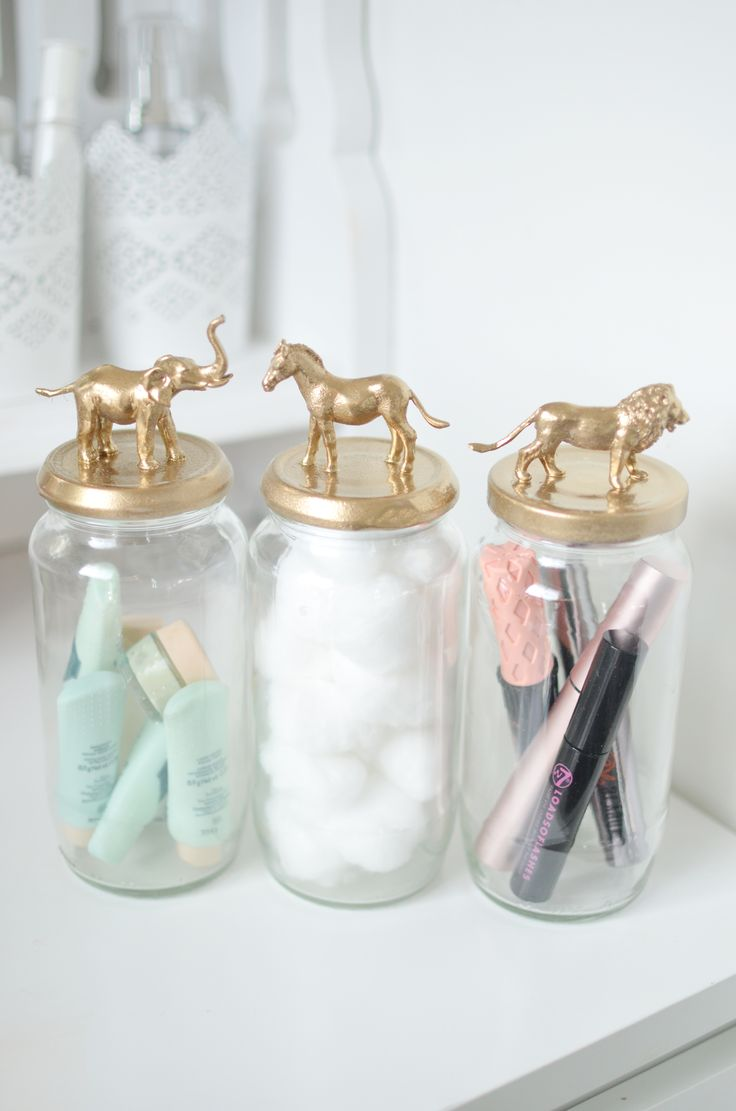 My new post is a DIY to make these cute gold animal storage jars. www.bangonstyl...